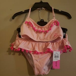 Betsy johnson girls size 10 2 pc swimsuit new tags